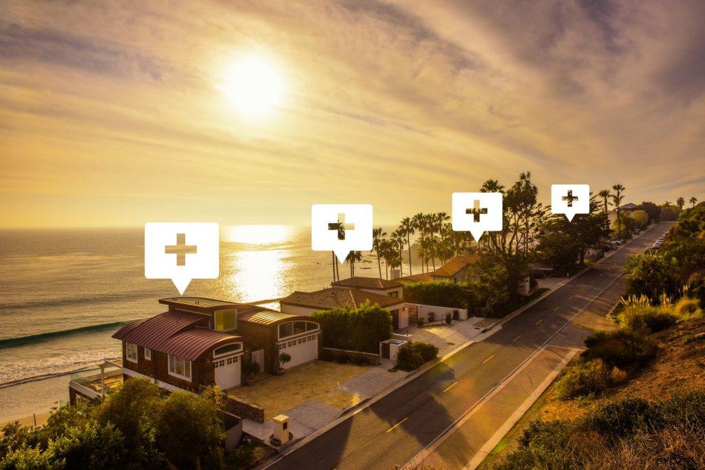 real estate agent advertising in Malibu